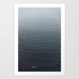 Pacific Kayakers Art Print