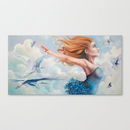 Zephyr, She Flies With Her Own Wings Canvas Print
