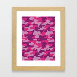 Pink Camouflage Framed Art Print