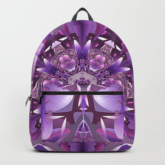 Truth Mandala in Purple, Pink and White Backpack
