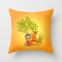 Orange rocks baby Throw Pillow