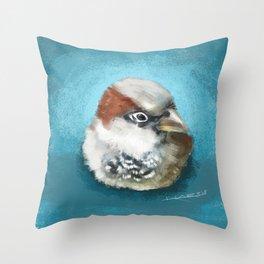 Natchan the sparrow Throw Pillow