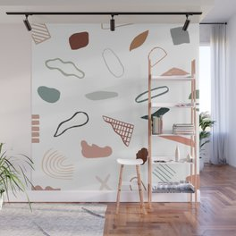 Terracotta composition - white background #722 Wall Mural