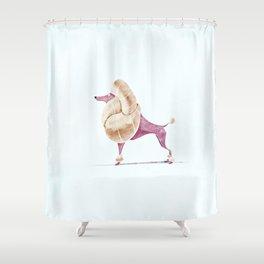 Poodle Shower Curtain