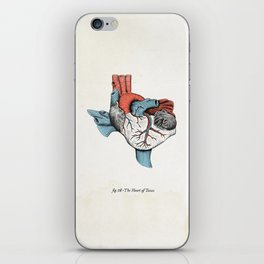 The Heart of Texas (Red, White and Blue) iPhone Skin