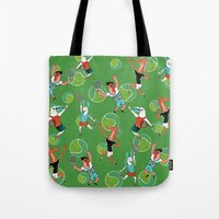 tennis Tote Bags featuring Tennis by misslin