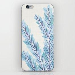 Blue Juniper Branches Botanical iPhone Skin