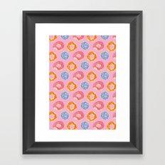 sweet things: doughnuts (pink) Framed Art Print