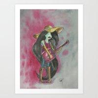 marceline Art Prints featuring marceline by Dan Solo Galleries