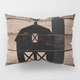 Black Rustic Barn & Rooster Pillow Sham