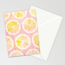 Orange Slices Pastel Fruit Stationery Cards