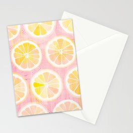 Orange Slices Pastel Fruit Stationery Cards