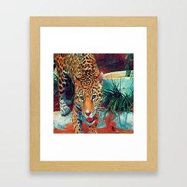 Jaguar in Motion Framed Art Print