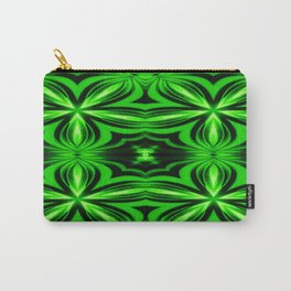 Vivid Green Electric Flower Pattern Carry-All Pouch