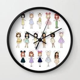 Princess Bounding Wall Clock