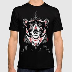 American Indian bear Mens Fitted Tee MEDIUM Black