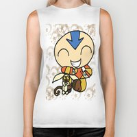 aang Biker Tanks featuring PowerPuff Aang by auroranq