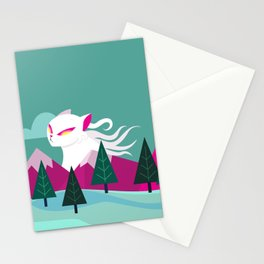 Monster Cat in the Mountains Stationery Cards