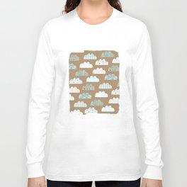 clouds pattern Long Sleeve T-shirt