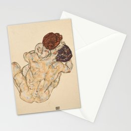 Man and Woman by Egon Schiele, 1917 Stationery Cards