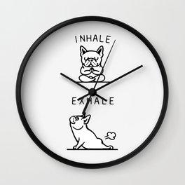 Inhale Exhale French Bulldog Wall Clock