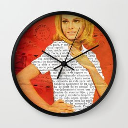 lady letter Wall Clock