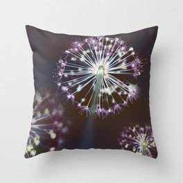 Fireworks. Dark Floral Abstract Throw Pillow