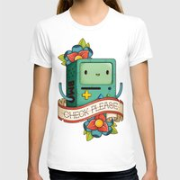 bmo T-shirts featuring BMO | CHECK PLEASE by Daniel Mackey