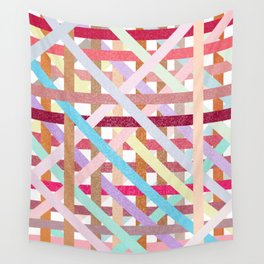 Structural Weaving Lines Wall Tapestry