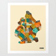 BROOKLYN NEIGHBORHOODS Art Print