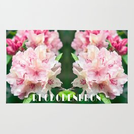 PINK BLOSSOM of RHODODENDRON Rug
