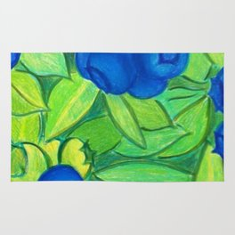 Blueberry patch Rug