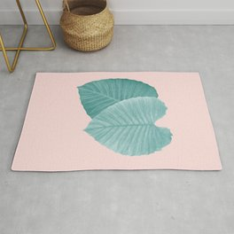 Love Leaves Evergreen Blush - Him & Her #2 #decor #art #society6 Rug