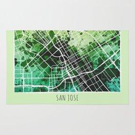 San Jose City Map / Green Rug