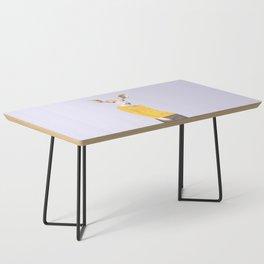 Fashionable Antelope Illustration Coffee Table