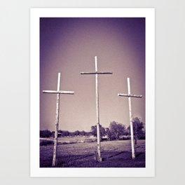 Tres Cruces Art Print