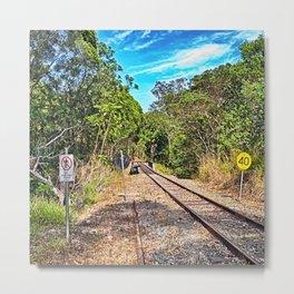 Down the track a bit Metal Print
