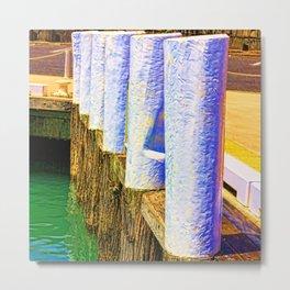 Abstract harbor bollards Metal Print