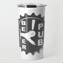 Black Beer Pub Brewery Handcrafted style Fashion Modern Design Print! Travel Mug