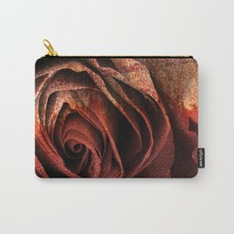 Bleeding Rust Rose Carry-All Pouch