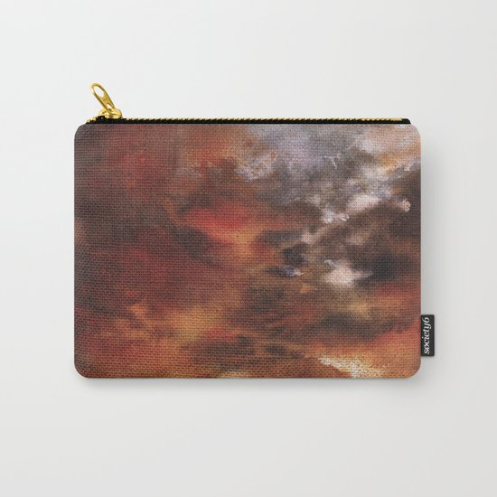 Windmill and the Sunset Sky Carry-All Pouch