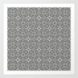 Star flowers pattern Art Print