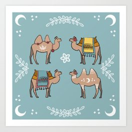 Camel Beauty Contest Mandala Art Print