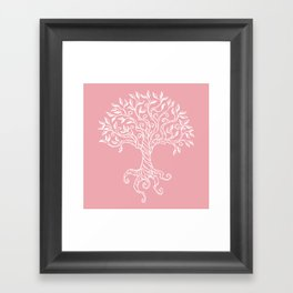 Tree of Life Pink Framed Art Print