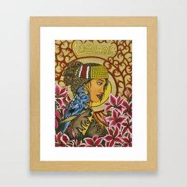 The Lunbawang girl Framed Art Print