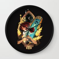 transistor Wall Clocks featuring Like It's Written in the Stars - Transistor by Stephanie Kao