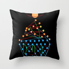 Sci-fi Futuristic Cupcake Throw Pillow