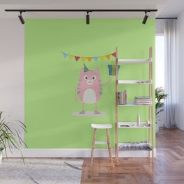 Happy Birthday Cat T-Shirt for all Ages Dhpeg Wall Mural