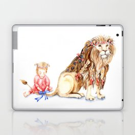 Girl with Her Lion Laptop & iPad Skin