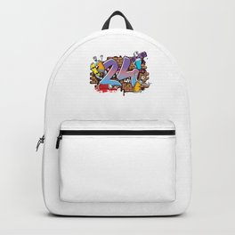 Hiphop Dancer Graffiti Artist Typography 24th Birthday Hip Hop Urban Wall Mural Street Art Backpack